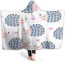JISMUCI Hoodie Blanket Warm Flannel,Seamless Cute