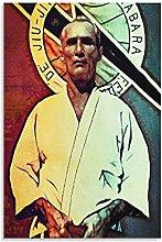 Jiu Jitsu Grandmaster Helio Gracie Poster Canvas