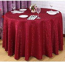 JIUJ Round Table Cloths Fabric, Dust-Proof