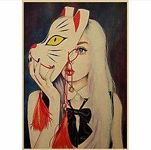 jiuyangshengong Personality girl canvas poster