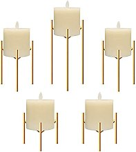 Jiyimi Christmas Fireplace Candelabras Gold Candle