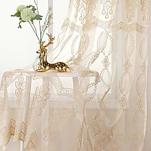 Jiyoyo Embroidered Violet Sheer Curtain for Parlor