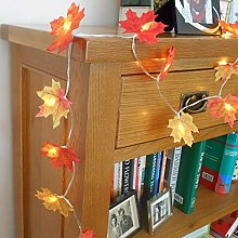 JJ. Accessory LED Artificial Autumn Maple Leaves