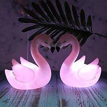 JJCDKL 1PC LED 3D Night Light Pink Flamingo Night
