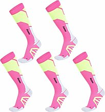 JJGS 5 Pairs Athletic Compression Socks Sports