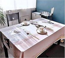 JJRYPSH Waterproof Oil Spillproof PVC Tablecloth