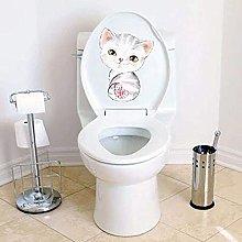 JJYGONG Cat Kitten Wall Stickers Toilet Stickers