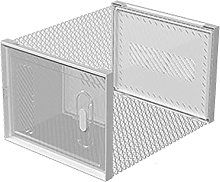 JJYGONG Clear Shoe Boxes with Door Stackable,