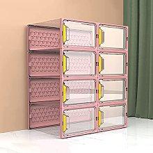 JJYGONG Clear Sneaker Box 6 Pcs, Shoe Box Storage