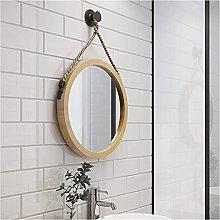 JJYGONG Round Glass Wall Mirror Art, Door Hanging