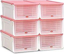 JJYGONG Shoe Boxes Clear 6 Pcs, Shoe Storage Box