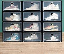 JJYGONG Sneaker Storage Box 12 Pcs, Clear Shoe