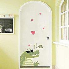 JJYGONG Wall Sticker Glass Window Kitchen Door