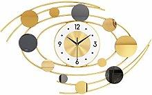 JJZXD Nordic Wall Clock Modern Design Large Silent