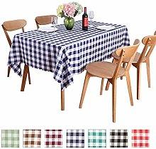 JK Home Checkered Rectangle Polyester Tablecloth -