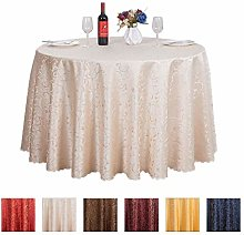 JK Home European Style Round Table Covers Jacquard