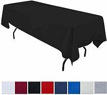 JK Home Rectangle Tablecloth - Black 60x126inch