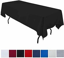 JK Home Rectangle Tablecloth - Black 90x132inch