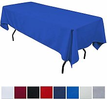 JK Home Rectangle Tablecloth - Blue 60x126inch