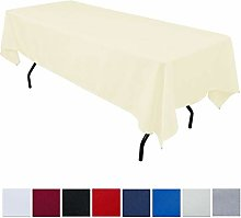 JK Home Rectangle Tablecloth - Ivory 60x126inch