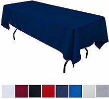 JK Home Rectangle Tablecloth - Navy Blue