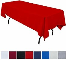 JK Home Rectangle Tablecloth - Red 90x132inch