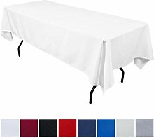 JK Home Rectangle Tablecloth - White 70x102inch