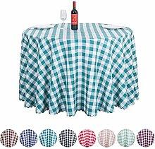 JK Home Round Table Cloth Polyester Lattice