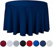JK Home Round Table Cover Polyester Tablecloth for