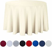 JK Home Round Tablecloth - Ivory