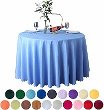 JK Home Tablecloth Round Table Cover Polyester