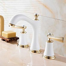 JKCKHA Basin Faucet Water Faucet Three-hole 8 Inch