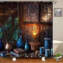 JKCKHA Homely Cottage Shower Curtain Bathroom