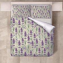 JKCloth Duvet Cover Set, Purple lavender, Double