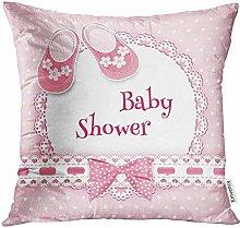 Jkhkjd Throw Pink Girl Baby Born Birthday Welcome
