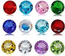 JKK SALE Birthstones Paperweight Glass Diamond