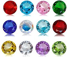 JKK SALE Birthstones Paperweight Glass Diamond