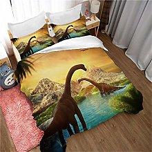 JKKIWK double Duvet Cover Animal dinosaur 3D