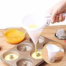 JKKJ Adjustable Hand-held Chocolate Funnel,Cream
