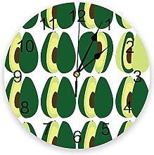 JKLMZYT Avocados Wall Clock Home Decor Bedroom