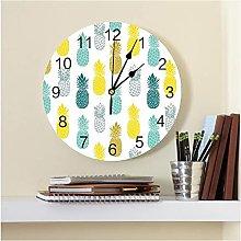JKLMZYT Colorful Pineapple Fruit PVC Wall Clock