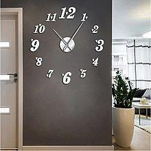 JKLMZYT DIY Big Wall Clock Acrylic Mirror Effect