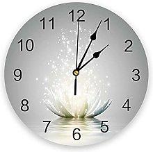 JKLMZYT Flower Abstract Lotus PVC Wall Clock