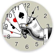 JKLMZYT Poker Hand Suit PVC Wall Clock Modern