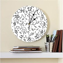 JKLMZYT Poodle Poodle Printed PVC Wall Clock