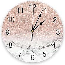 JKLMZYT White Marble Wall Clock Home Decor Bedroom
