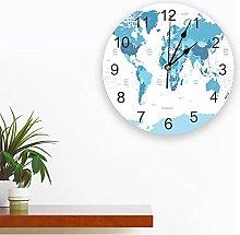 JKLMZYT World Map PVC Wall Clock Modern Design
