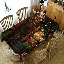 JKRFV Cover Cloth Tablecloth Christmas fireplace