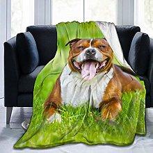 JKU English Staffordshire Bull Terrier Dog Fleece