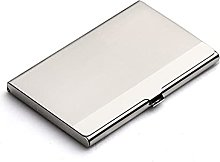 JKXWX Business Card Holder Stainless Steel Metal